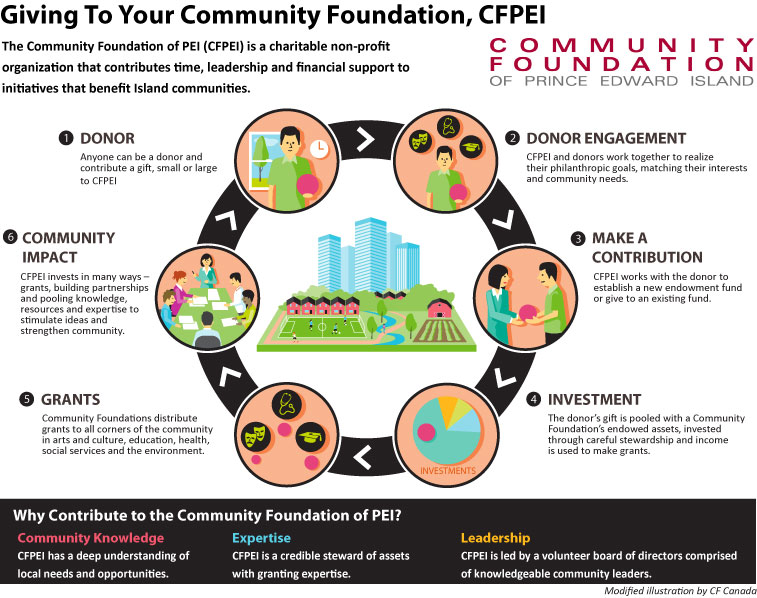 Giving to Your Community Foundation Infographic 2014